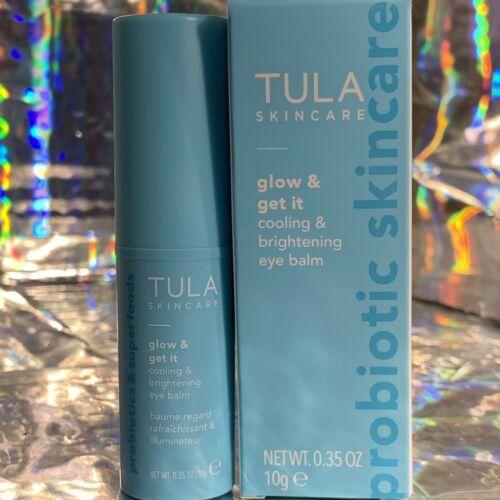 NEW IN BOX Tula Skincare Glow & Get It .35oz (10g) Cooling Brightening Eye Balm