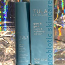 NEW IN BOX Tula Skincare Glow & Get It .35oz (10g) Cooling Brightening Eye Balm