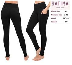 Soft Women's High Waisted Leggings in Capri Regular and Plus Sizes W/ Po... - $26.99
