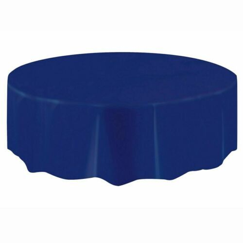 "Primary image for Amscan Plastic Table Cover 84"" Round Royal Blue"