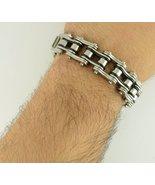 "9"" Chain Bracelet Stainless Steel Black Silver Mustang Jaguar BMW Dodge ... - $25.03"