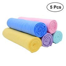5PCS PVC Synthetic Magical Functional Towel for Car Wash Cleaning Deersk... - £18.29 GBP