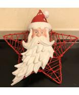 Vintage Christmas Santa Ornament - $9.90