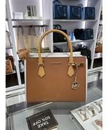 NWT Michael Kors Hope Large Satchel Bag Crossbody Leather Handbag Multi Color - $205.95