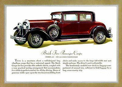 Primary image for 1930 Buick Coupe - Promotional Advertising Poster