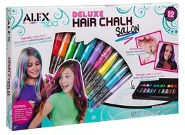 ALEX Spa Deluxe Hair Chalk Salon-12 Colors,Beads,Storage Case-AGES 8+ - $29.49