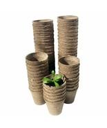 Eco Friendly Gardening Pot Nursery Plant Fiber Material Pulp Seeding Cup... - £21.14 GBP