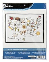 State By State Counted Cross Stitch Kit Bucilla New Map Aida Apple Bison... - $24.74