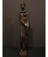 "Tanganyika (Tanzania) African Wooden Carved Woman Approx. 19 1/4"" Tall - $27.90"