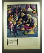 1964 Schweppe's Soda Ad - Stephen Potter, George Him - Schweppshire Go g... - $14.99
