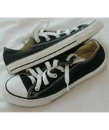 Converse all Star Youth Boys Shoes Size 2 M Black Fabric Low Top  - $24.75