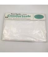 NOS VTG Cannon Royal Family Double Full Flat Bed Sheet Solid White Plain... - $19.79