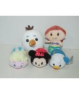 Hallmark plush lot Itty Bittys Little Mermaid Tsum tsum minnie mouse don... - $5.93