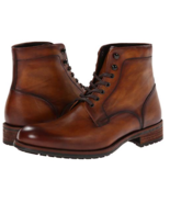Handmade Men Brown ankle boots, Men brown lace up ankle boot, Men leathe... - $179.99
