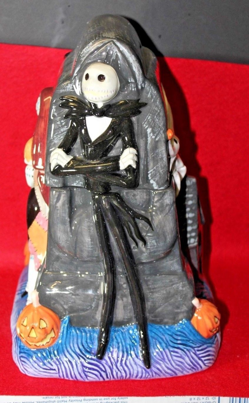 cf68a887c724e Applause Tim Burton Jack   Sally Nightmare Before Christmas Cookie Jar NIB