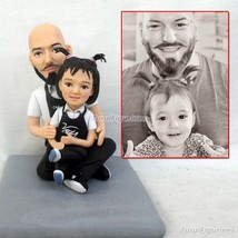 wedding Cake Topper Customize Polymer Clay Doll From Picture photo Birth... - $148.00