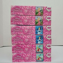 6 Cardinal Disney Princesses 48 PC Jigsaw Puzzles Ages 6+ Gifts Party Fa... - $11.99