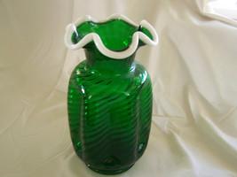 Eye Catching Fenton Glass Spiral Optic Emerald ... - $225.00
