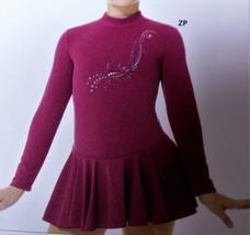 Mondor Model 24334 Born to Skate Skating Dress - Heather Pink Size Child 12-14 - $80.00