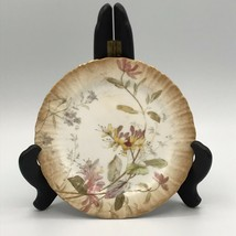 Doulton Burslem England Antique Small Plate Honeysuckle Floral Gold Edge - $26.59