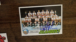1977-78 TOPPS NEW YORK ISLANDERS TEAM CARD BY SIGNED BILL TORREY PANTHER... - $39.59