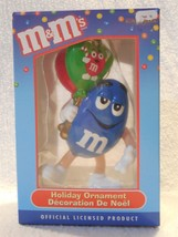 M&M's Kurt Adler Resin Mr Blue Christmas Ornament MIB - $3.95