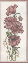 Poppies 60445 Counted Cross Stitch NIP 1990 Golden Bee - $12.86