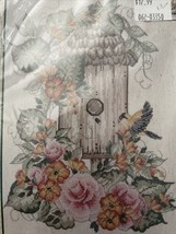 Bucilla Donna Dewberry Birdhouse With Floral Counted Cross Stitch Kit 14 count - $19.35