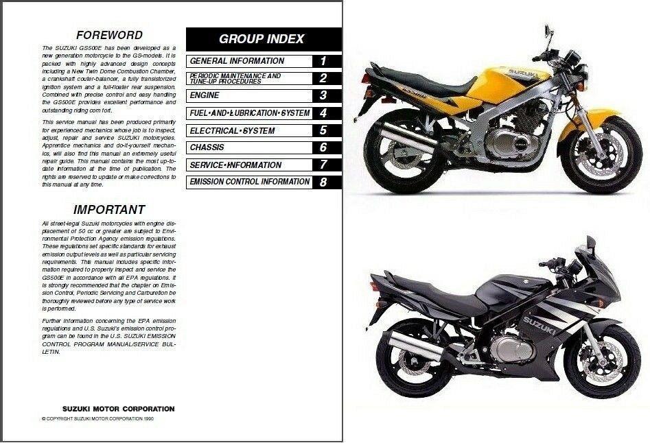 1989-2009 Suzuki GS500E / GS500F / GS500 Service Manual on a CD - $12.99