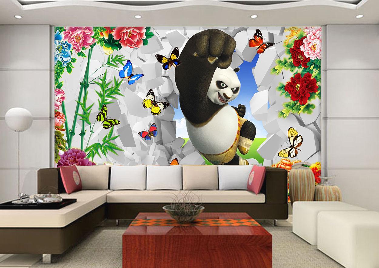 3d netter panda 744 fototapeten wandbild bild tapete familie kinder wallpaper murals - Wandbild familie ...