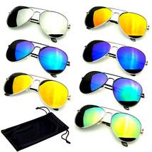 SUNGLASSES Aviator Mirrored Mens Womens UV400 New Lens Frame Color Retro... - $6.62+