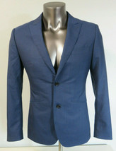 Mens Indochino Navy Blue 2 Button Wool Dual Vent Blazer Jacket Only Size... - $29.69