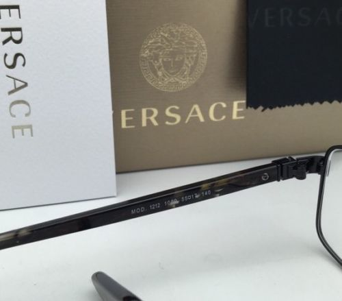 5c28741c81f2 New VERSACE Eyeglasses MOD.1212 1009 55-17 140 Black Frames with Versace  Logos