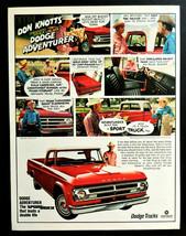 Vtg 1969 red Dodge Adventurer truck Don Knotts advertisement print ad  - $14.49