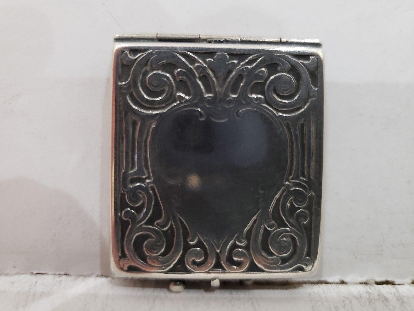 Antique Fraternal Elks BPOE Sterling Silver Card Case / Enameled Plague -1900's image 4