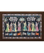 Pichwai Painting Vintage Collectible Art Beautiful Traditional Wall Decor. - $645.08