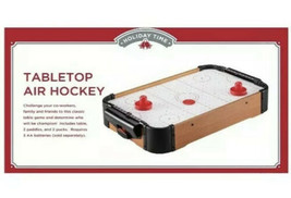 20″ Air Hockey Tabletop Family Fun Drinking Game Home Arcade Game - $9.89