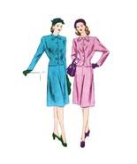 1940s Vtg Vogue Sewing Pattern 5528 Misses Suit Flared Skirt Jacket 16 COMPLETE - $34.95