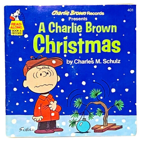 A Charlie Brown Christmas Read-Along Book & Record Peanuts 1977 Charles M Schulz - $33.12