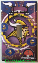 Minnesota Vikings Light Switch Power Outlet Duplex Wall Cover Plate Home Decor image 1
