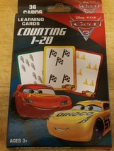 Disney Pixar Cars 3 Learning Cards Counting 1-20