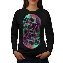 Melting Skulls Fantasy Jumper  Women Sweatshirt - $18.99