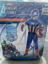 Marvel Captain America Quilted Muscle Bodysuit 3 Piece Set Size Large 12-14 Year - $19.75