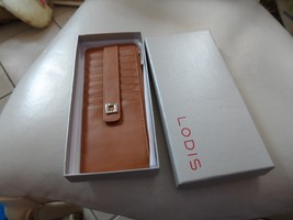 Lodis ARTEMIS Brown Leather Credit Card Wallet Case RFID Protection - $18.50