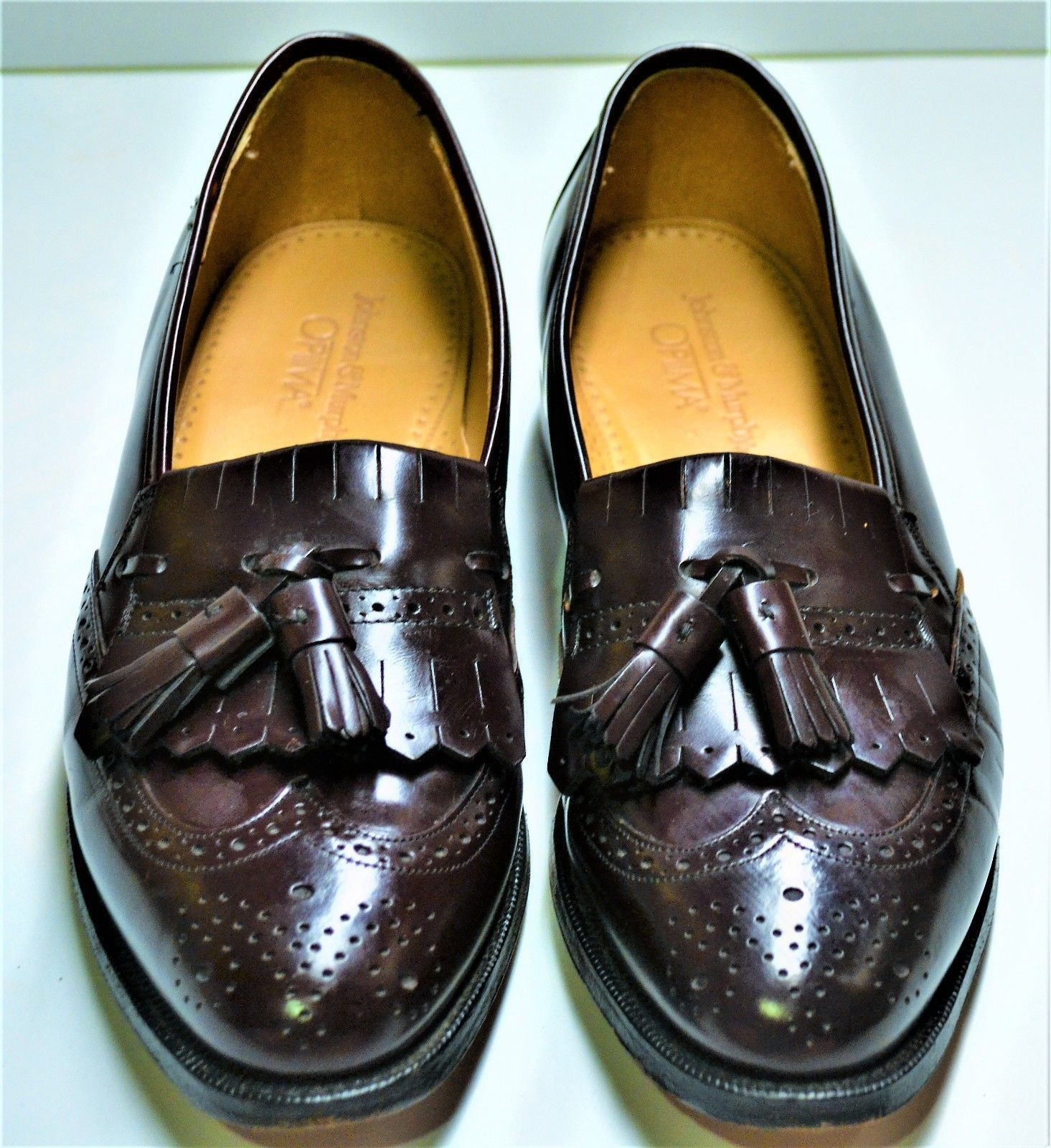 789e05bc2df S l1600. S l1600. Previous. Johnston Murphy Mens Leather Wingtip Tassel Loafers  Dress Shoes ...
