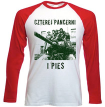 Czterej Pancerni I Pies - New Red Long Sleeves Cotton Tshirt - $27.61