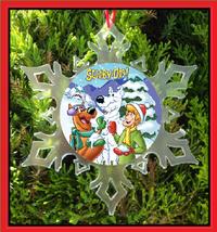 Scooby Doo And Shaggy Christmas Ornament - X-MAS Snowflake Ornament - $12.95