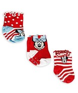 Disney Minnie Mouse Sock Set for Baby - 3-Pack Size 0-6 MO - $19.95