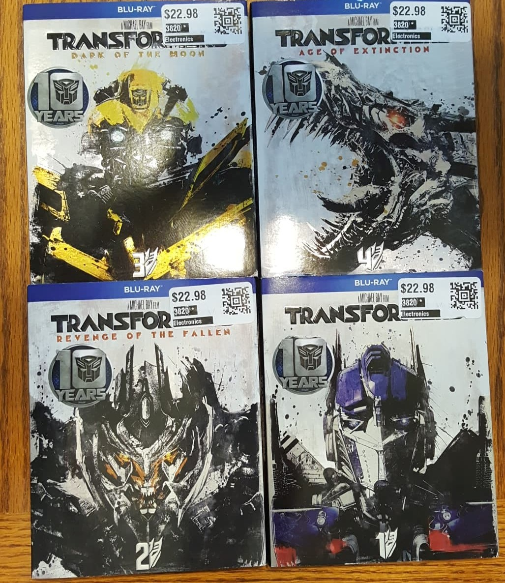Transformers 1 - 4 10th anniversary Blu-ray lot