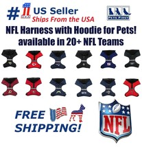 NFL Harness with Hood for Dogs & Cats. 20+ Football teams, with Reflecti... - $23.99